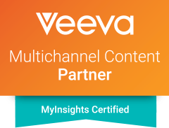 Intouch is a Veeva Certified Partner; Veeva MyInsights logo