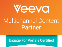 Intouch is a Veeva Certified Partner; Veeva Engage logo