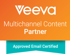 Intouch is a Veeva Certified Partner; Veeva Approved Email logo