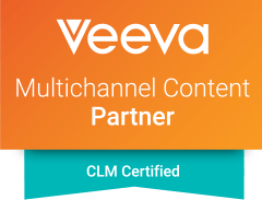 Intouch is a Veeva Certified Partner; Veeva CLM logo