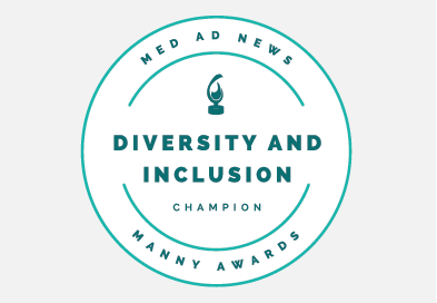 Med Ad News Diversity and Inclusion Champion Manny Awards Logo