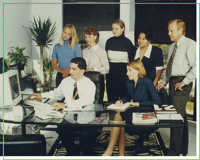 Faruk Capan leads a group of marketers in a meeting. Due much to Faruk's leadership, Intouch Solutions has been an innovator in digital strategy and marketing services since 1999.