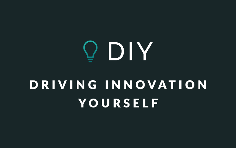"Image that says ""DIY: Driving Innovation Yourself"""