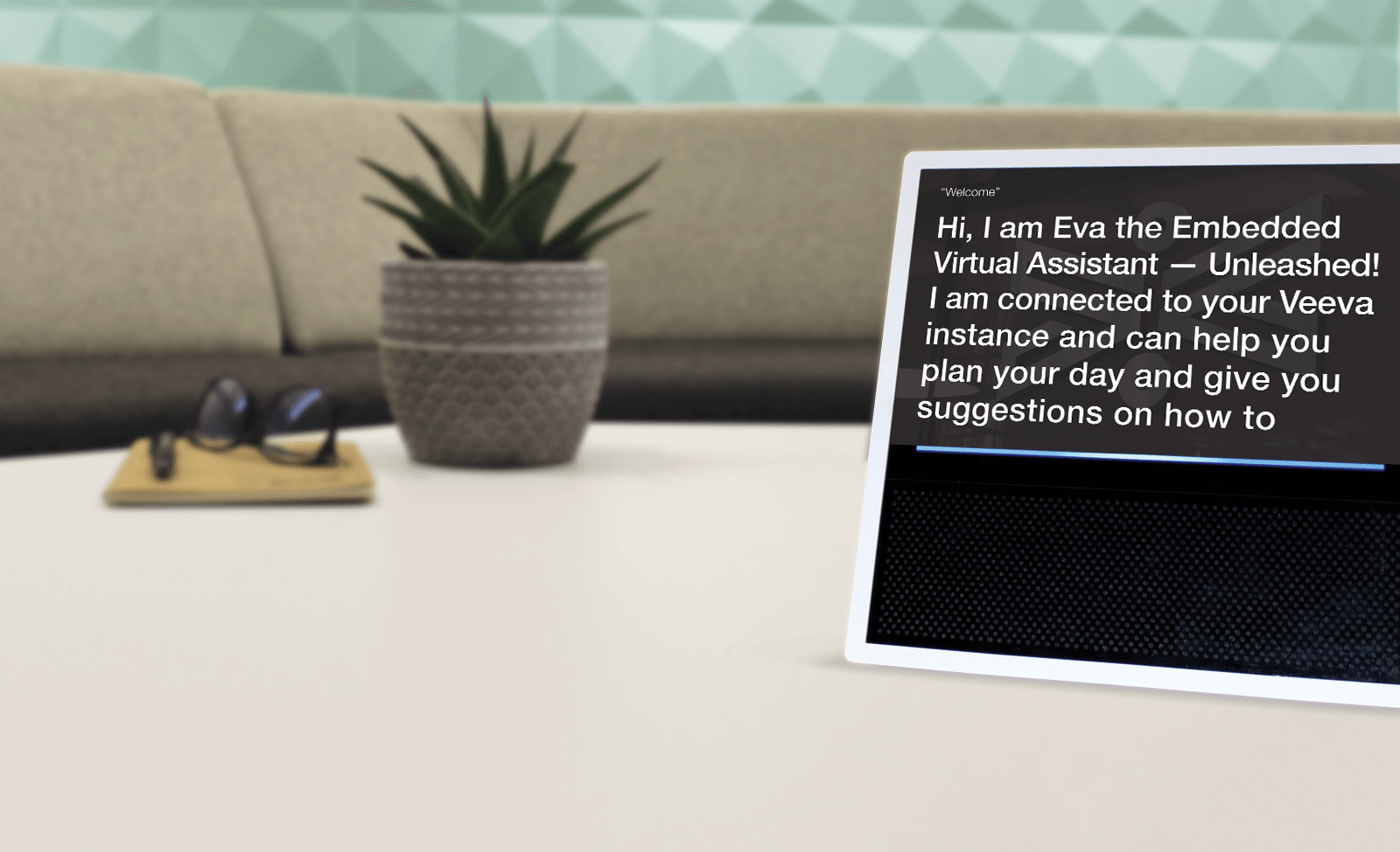 Photo of EVA, the embedded virtual assistant