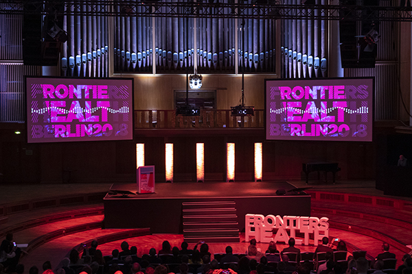 Photo of Frontiers Health conference stage