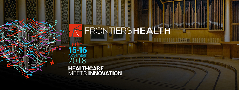 Photo showing conference information for Frontiers Health conference