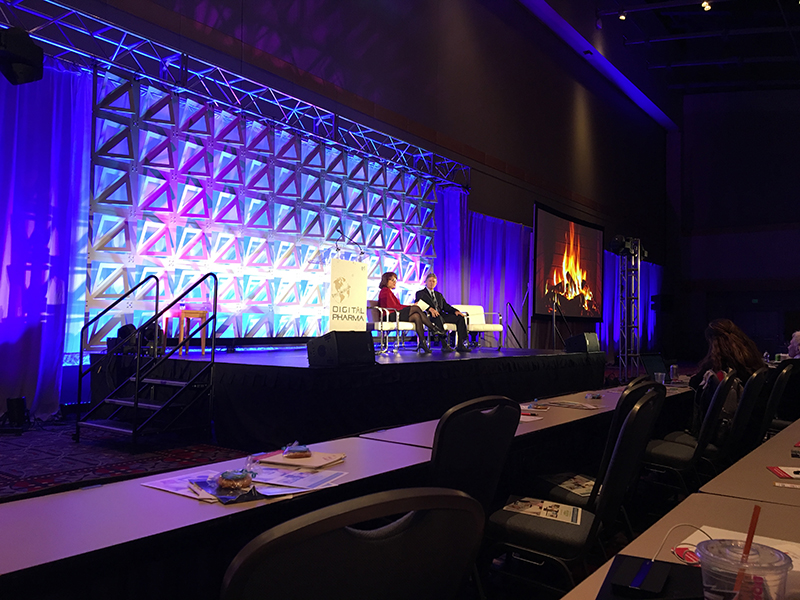 Photo of stage at Digital Pharma East