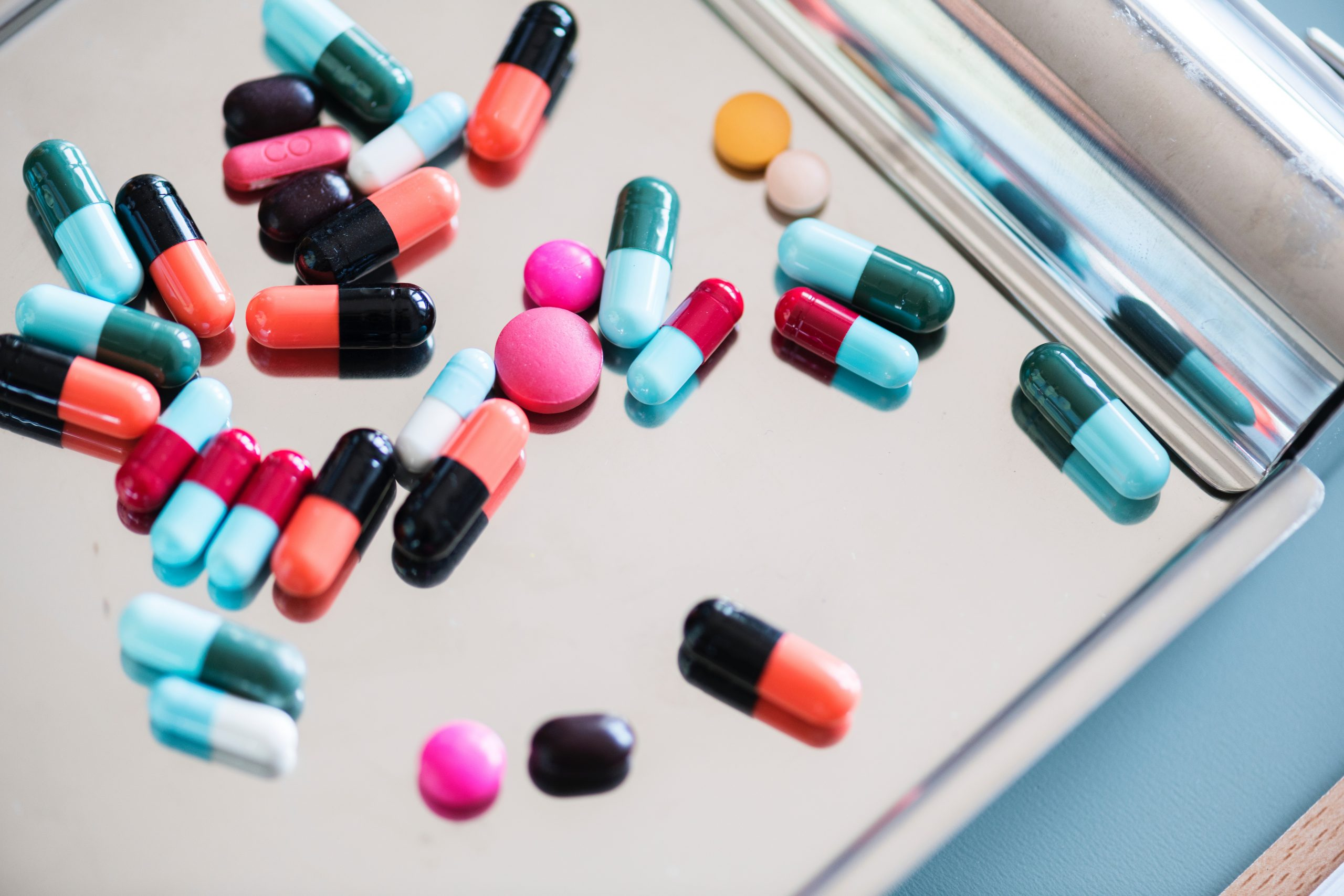 Image of many colorful pills