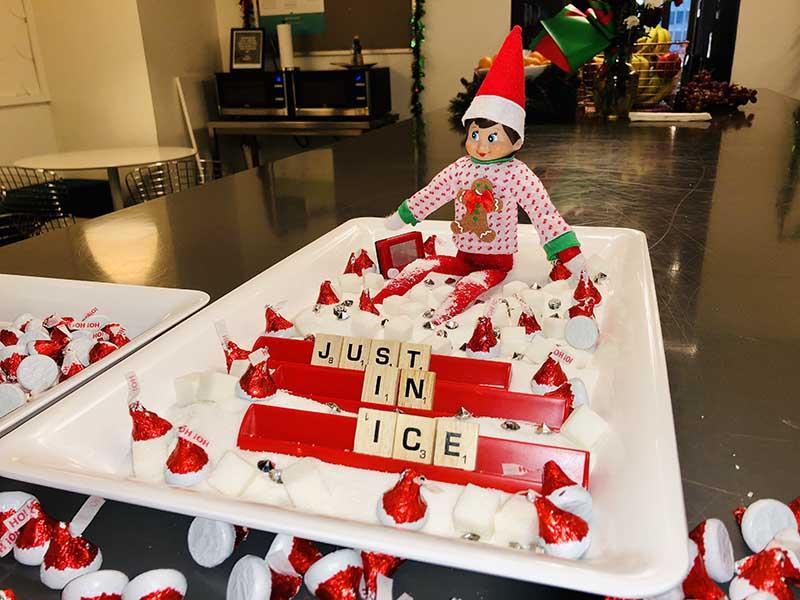 Image of Elfie the Elf in Ice