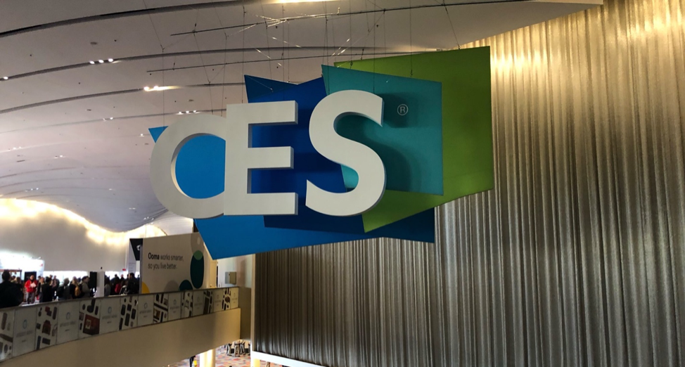 Photo showing CES conference signage