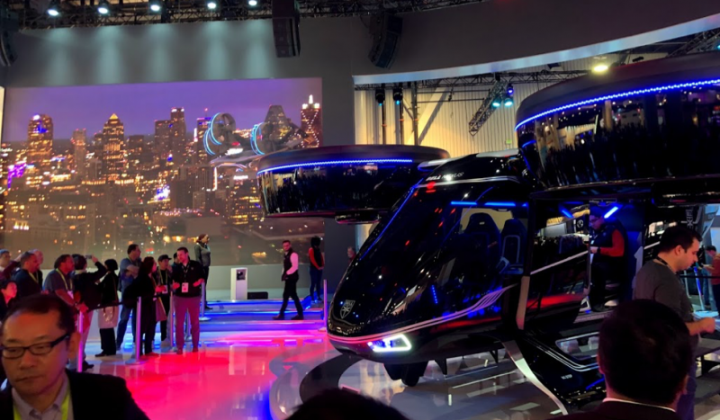 Photo of self-driving cars at CES conference