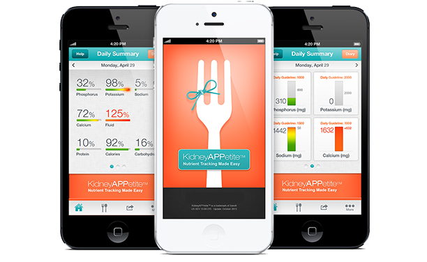 Examples of health apps on iPhones