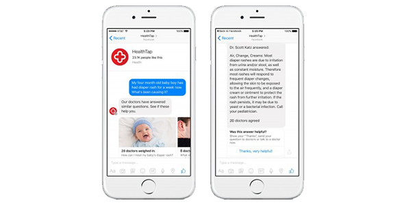 Example of telemedicine chatbot